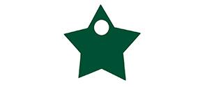 Stjerne til vinglasfod