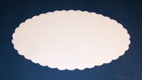 Fadpapir oval 19x29 cm.