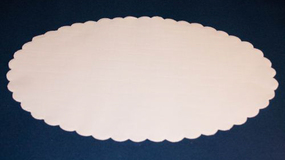 Fadpapir oval 26x39 cm.