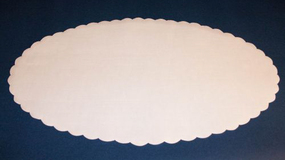 Fadpapir oval 29x46 cm.