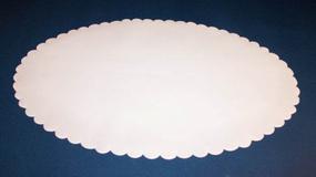 Fadpapir oval 33x50 cm.