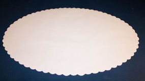 Fadpapir oval 36x55 cm.