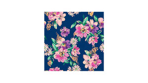 Flower Meadow Pattern – Dark Blue
