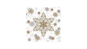 Gold & Silver Ornate Snowflakes