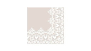 Ornament Border Beige