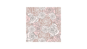 Graphic Roses Pattern Pink