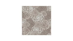 Graphic Roses Pattern Grey