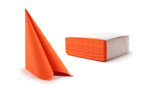 Airlaid Middagsservietter - Orange - 50 stk.